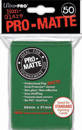 Deck Protector Mate (50) Green (Verde) Ultra Pro