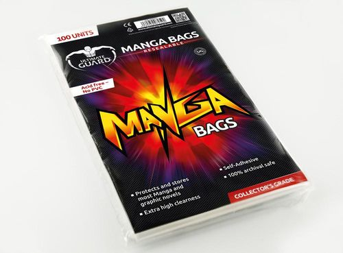 Comic bags (fundas) Manga Resealable. Ultimate Guard (100)