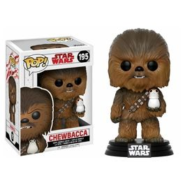 Funko Pop Star Wars: Chewbacca con Porg