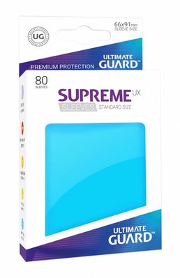 Fundas Supreme UX (Deck Protector 80) Azul celeste - Ultimate Guard
