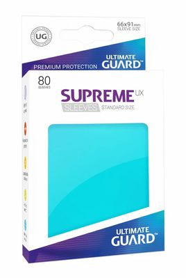 Fundas Supreme UX (Deck Protector 80) Aquamarina - Ultimate Guard