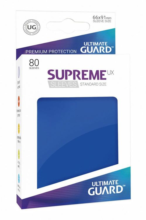Fundas Supreme UX (80) Azul - Ultimate Guard