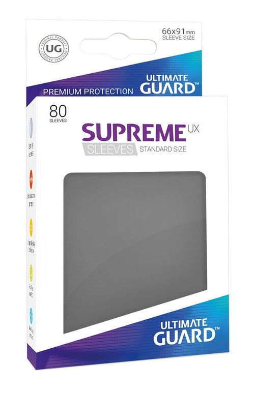 Fundas Supreme UX (80) Gris oscuro- Ultimate Guard