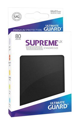 Fundas Supreme UX (Deck Protector 80) Negro - Ultimate Guard