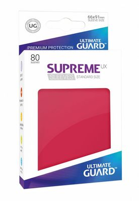 Fundas Supreme UX (Deck Protector 80) Rojo - Ultimate Guard