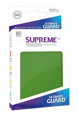 Fundas Supreme UX (Deck Protector 80) Verde - Ultimate Guard