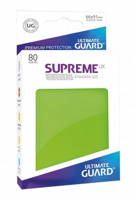 Fundas Supreme UX (Deck Protector 80) Verde claro - Ultimate Guard