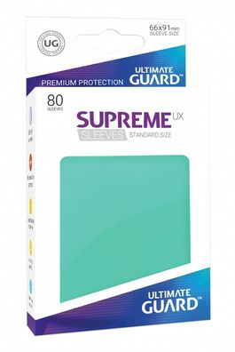 Fundas Supreme UX (Deck Protector 80) Turquesa - Ultimate Guard