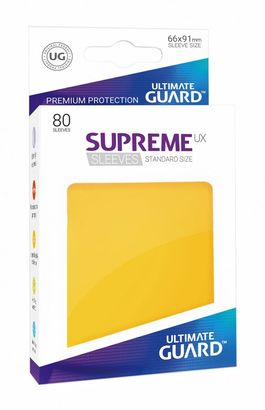 Fundas Supreme UX (Deck Protector 80) Amarillo - Ultimate Guard