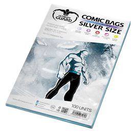 Comic bags (fundas) Silver Size Resealable. Ultimate Guard