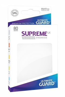 Fundas Supreme UX (Deck Protector 80) Blanco - Ultimate Guard