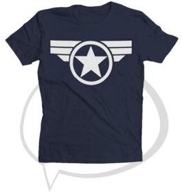 "Camiseta ""Star & Stripes"" (Estrellas y barras - Capi América) S"