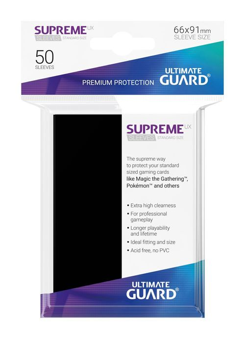 Fundas Supreme UX (Deck Protector 50) Negro - Ultimate Guard