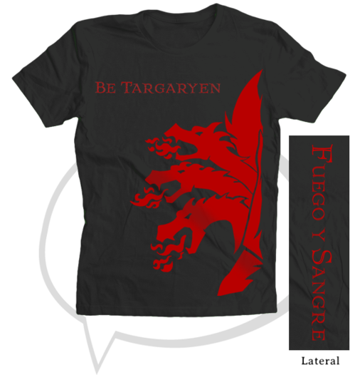 camiseta, targaryen, juego de tronos, game of thrones