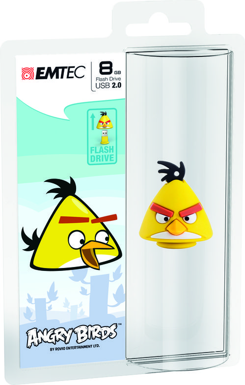 "Pendrive Angry Birds ""Amarillo"" 8GB  EMTEC"