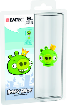 "Pendrive Angry Birds 8GB ""Pig"" EMTEC"